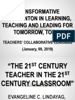 TRANSFORMATIVE INTERVENTON IN LEARNING, TEACHING AND LEADING