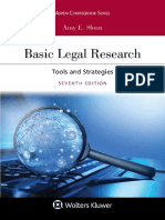 (Aspen Coursebook Series) Amy E. Sloan - Basic Legal Research_ Tools And Strategies-Wolters Kluwer (2019)
