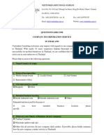 QUESTIONNAIRE of Company Incorporation Service for Client in Thailand.docx