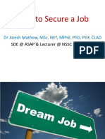 Securing the Job by Dr Jinesh Mathew
