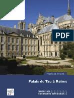 Fiche de visite Palais du Tau 2018