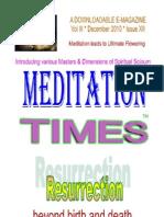 Meditation Times December 2010