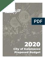 Kalamazoo 2020 Proposed Budget