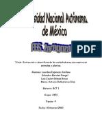 Extraccion e identificación de polisacáridos de reserva informe