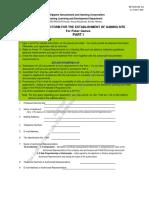 PAGCOR GS Form No. 1A - Application Form Part I  - Poker Games 04.17.2017