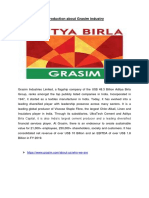 INTRODUCTION ABOUT THE GRASIM INDUSTRY.docx