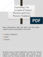 2. Expanding our Philosophical Frames - Western and Non-Western Traditions