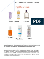 The Quality Of the Skin Care Products Is Vital To Obtaining Beautiful Skin