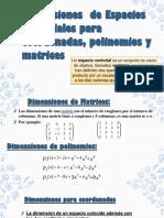algebra- espacios vectoriales