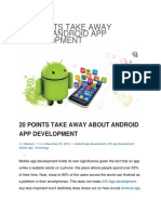 20 Points Take Away About Android App Development