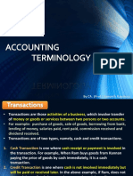 PPT - Accounting Terminology
