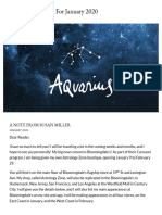 Aquarius Horoscope for January 2020 - Susan Miller Astrology Zone