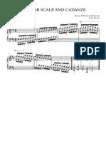 D Scale and Cadanze (Hanon) - Full Score