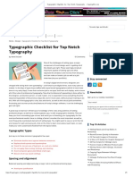 Typographic Checklist for Top Notch Typography - CreativePro.com