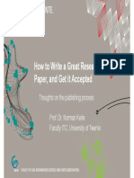 How to write a great and vey important research paper