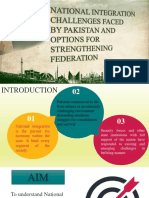 Strengthening the Federation of Pakistan