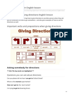 easypacelearning.com-Giving directions in English lesson