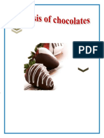 Analysis of chocolates CHEMISTRY PROJECT
