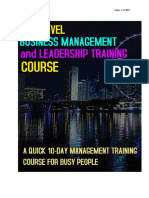 MBA Level  Business Management Course