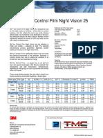 Night Vision 25 Sun Control Broucher