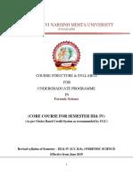 F Sc Sem (UG) 3 & 4 Syllabus