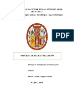 PROCESO DE RECRISTALIZACION