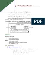 Procedure et fonction