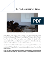 """The Power of """"Co-"""" in Contemprary dance. Una entrevista a Andre Lepecki"""