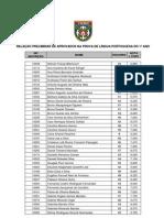 NOTAS NA PROVA DE LÍNGUA PORTUGUESA DO 1º ANO DO CMBH DE 2010/2011