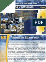 PRODUCTOS Y SERVICIOS - HC CALAMA SPA. 2018 REV 01