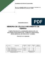 Cd01001 Memoria de Cálculo de Movimiento Tierras