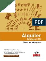 catálogo Orquesta PILES del 2014