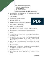 Witness Examination Sample
