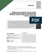 El plazo prescriptorio de la acción de ineficacia. César Moreno.pdf