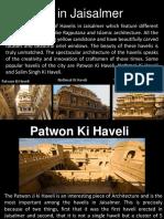 Haveli's in jaisalmer