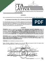 Gaceta Legislativa - Instalación de la Junta Directiva de la AN
