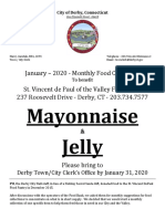 Town Clerk - Food Collection - January 2020