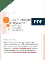 Headache-An ENT problem