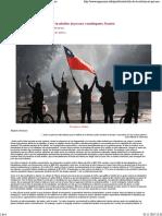 Chile de la rebelion al proceso constituyente