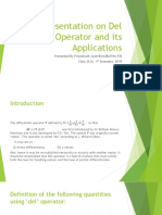 Presentation on Del Operator and its Applications