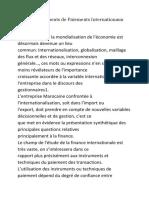 les nouveaux instruments financiers internationaux