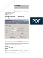Diseño de Saldos Estado de Cuenta x Centro costo - Cliente