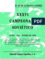 Suplemento Nº 25. XXXVI Campeonato URSS 1968-1969