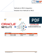 Oracle NetSuite to Oracle PBCS Integration