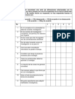 encuesta  continuación encontrará una serie de afirmaciones relacionadas con la investigación.docx