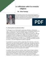 Un científico reflexiona sobre la creencia religiosa