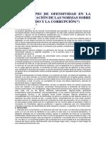 EL PRINCIPIO DE OFENSIVIDAD EN LA INTERPRETACIÓN DE LAS NORMAS SOBRE EL PECULADO Y LA CORRUPCIÓN