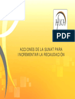 ACCIONES DE LA SUNAT PÀRA INCREMENTAR LA RECAUDACION