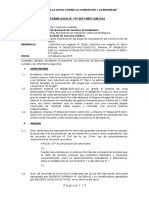 Informe N° 198-2019-MDY-GM-GAJ Sobre exoneración de nicho
