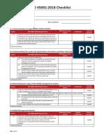 ISO 45001 2018 Audit Checklist